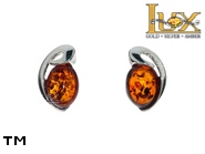 Jewellery SILVER sterling earrings.  Stone: amber. TAG: ; name: E-C22; weight: 1.6g.