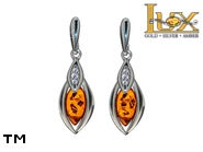 Jewellery SILVER sterling earrings.  Stone: amber. TAG: modern; name: E-C46; weight: 3.7g.