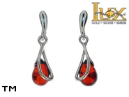 Jewellery SILVER sterling earrings.  Stone: amber. TAG: ; name: E-C82; weight: 2g.