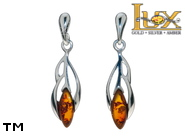 Jewellery SILVER sterling earrings.  Stone: amber. TAG: nature; name: E-D49SW; weight: 2.1g.