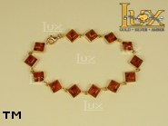 Jewellery GOLD bracelet.  Stone: amber. TAG: ; name: GB255; weight: 6.7g.