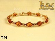 Jewellery GOLD bracelet.  Stone: amber. TAG: ; name: GB257-2; weight: 10.7g.