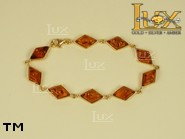 Jewellery GOLD bracelet.  Stone: amber. TAG: ; name: GB257; weight: 7.1g.