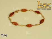Jewellery GOLD bracelet.  Stone: amber. TAG: ; name: GB260; weight: 6.3g.