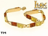 Jewellery GOLD bracelet.  Stone: amber. TAG: ; name: GB303; weight: 13.1g.