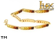 Jewellery GOLD bracelet.  Stone: amber. TAG: modern; name: GB323; weight: 9.83g.