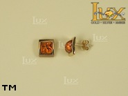 Jewellery GOLD earrings.  Stone: amber. TAG: ; name: GE280; weight: 2.6g.