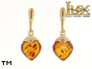 Jewellery GOLD earrings.  Stone: amber. TAG: ; name: GE325; weight: 2.81g.