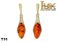 Jewellery GOLD earrings.  Stone: amber. TAG: modern; name: GE401SW; weight: 0g.