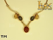 Jewellery GOLD necklace.  Stone: amber. TAG: nature; name: GN289; weight: 8g.
