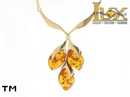 Jewellery GOLD necklace.  Stone: amber. TAG: ; name: GN324; weight: 11.49g.