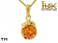 Jewellery GOLD pendant.  Stone: amber. TAG: nature, animals, clasic; name: GP006; weight: 1.6g.