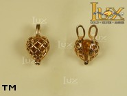 Jewellery GOLD pendant.  Stone: amber. TAG: hearts, clasic; name: GP057; weight: 2.43g.