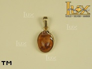 Jewellery GOLD pendant.  Stone: amber. TAG: nature, clasic; name: GP132; weight: 2.1g.