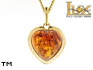 Jewellery GOLD pendant.  Stone: amber. TAG: hearts, clasic; name: GP147-2; weight: 2.09g.