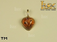 Jewellery GOLD pendant.  Stone: amber. TAG: hearts, clasic; name: GP147; weight: 1.6g.