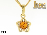 Jewellery GOLD pendant.  Stone: amber. TAG: nature; name: GP156; weight: 1.5g.