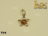 Jewellery GOLD pendant.  Stone: amber. TAG: nature; name: GP166; weight: 0.61g.