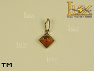 Jewellery GOLD pendant.  Stone: amber. TAG: ; name: GP255; weight: 0.5g.
