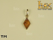Jewellery GOLD pendant.  Stone: amber. TAG: ; name: GP257; weight: 0.9g.