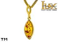 Jewellery GOLD pendant.  Stone: amber. TAG: ; name: GP260; weight: 1.01g.