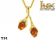 Jewellery GOLD pendant.  Stone: amber. TAG: nature; name: GP295; weight: 2.97g.