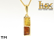 Jewellery GOLD pendant.  Stone: amber. TAG: ; name: GP303; weight: 2.7g.
