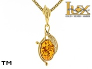 Jewellery GOLD pendant.  Stone: amber. TAG: nature; name: GP307; weight: 2.84g.