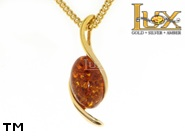 Jewellery GOLD pendant.  Stone: amber. TAG: ; name: GP308; weight: 1.91g.