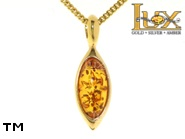Jewellery GOLD pendant.  Stone: amber. TAG: ; name: GP311; weight: 2.2g.