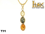 Jewellery GOLD pendant.  Stone: amber. TAG: ; name: GP315; weight: 2g.