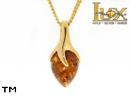 Jewellery GOLD pendant.  Stone: amber. TAG: ; name: GP316-1; weight: 0g.