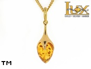 Jewellery GOLD pendant.  Stone: amber. TAG: ; name: GP316-2; weight: 0g.