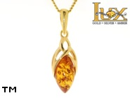 Jewellery GOLD pendant.  Stone: amber. TAG: ; name: GP317; weight: 2.7g.