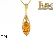 Jewellery GOLD pendant.  Stone: amber. TAG: ; name: GP322; weight: 2.3g.