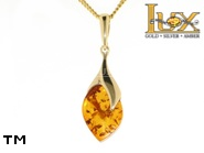 Jewellery GOLD pendant.  Stone: amber. TAG: ; name: GP324; weight: 2.9g.