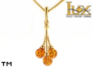 Jewellery GOLD pendant.  Stone: amber. TAG: ; name: GP328; weight: 1.3g.