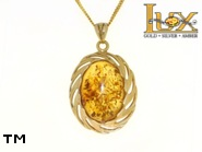 Jewellery GOLD pendant.  Stone: amber. TAG: ; name: GP334; weight: 8.05g.
