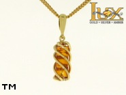 Jewellery GOLD pendant.  Stone: amber. TAG: ; name: GP335; weight: 2.18g.