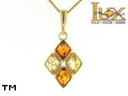 Jewellery GOLD pendant.  Stone: amber. TAG: ; name: GP337; weight: 3.23g.