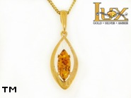 Jewellery GOLD pendant.  Stone: amber. TAG: ; name: GP338; weight: 1.94g.