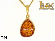 Jewellery GOLD pendant.  Stone: amber. TAG: ; name: GP339; weight: 2.84g.