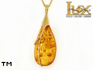 Jewellery GOLD pendant.  Stone: amber. TAG: unique; name: GP349; weight: 9.64g.