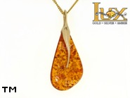 Jewellery GOLD pendant.  Stone: amber. TAG: unique; name: GP350; weight: 6.19g.