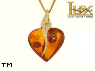 Jewellery GOLD pendant.  Stone: amber. TAG: clasic; name: GP351; weight: 3.96g.