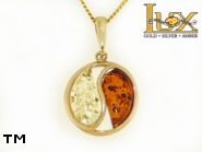 Jewellery GOLD pendant.  Stone: amber. TAG: signs; name: GP354; weight: 4.08g.