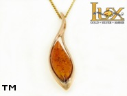 Jewellery GOLD pendant.  Stone: amber. TAG: ; name: GP355; weight: 4.6g.