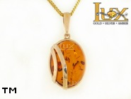 Jewellery GOLD pendant.  Stone: amber. TAG: ; name: GP356; weight: 4.93g.