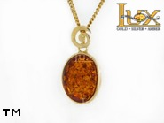 Jewellery GOLD pendant.  Stone: amber. TAG: ; name: GP357; weight: 2.86g.