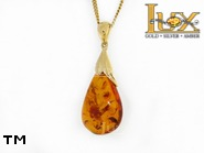 Jewellery GOLD pendant.  Stone: amber. TAG: ; name: GP358; weight: 4.79g.